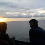 Menikmat senja di pantai Senggigi
